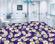 beibehang Ultra-high-definition beautiful flowers realistic fashion three-dimensional wallpaper floor painting backgrou tapety
