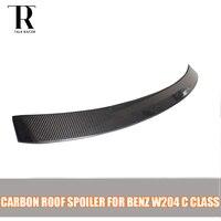 C Class W204 Carbon Fiber Rear Roof Spoiler for Ben C180 C200 C220 C300 C350 2007 2008 2009 2010 2011 2012 2013 AC Styling