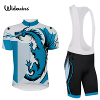 Best Selling Nice 2017 Lowest Price Ropa Ciclismo Breathable Dinosaur Cycling jersey Maillot Cycling Wear Bike Apparel 5414
