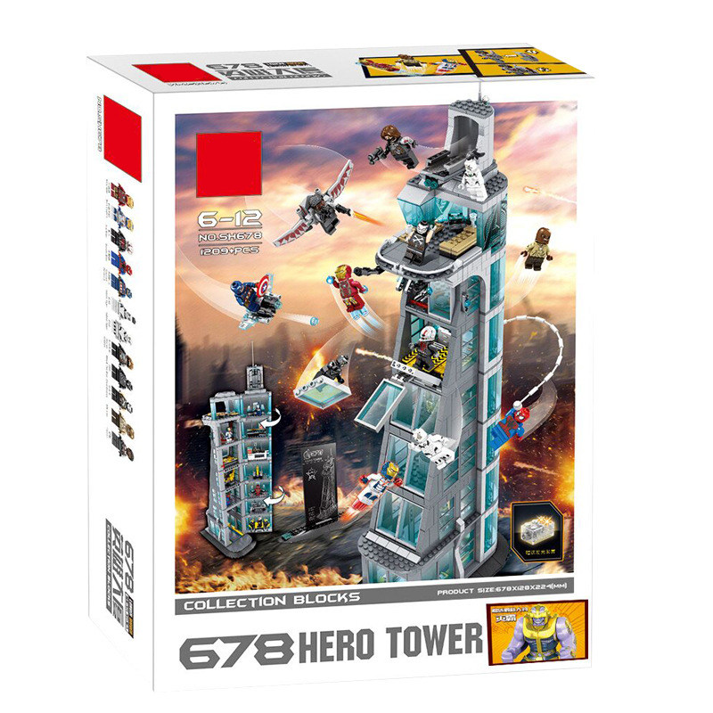 New Upgraded Version SuperHeroes ironman marvel Avenger Tower fit legoings Avengers gift Building Block Bricks boy kid gift Toy