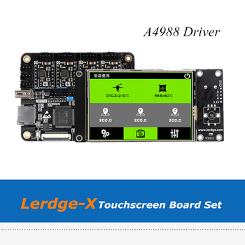 New 3.5 inch 32bit Lerdge X Touch Screen Board Set For Delta Corexy XYZ 3D Printers with 4pcs A4988 Drivers