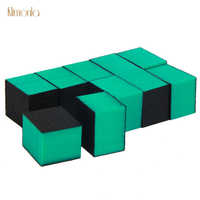100pcs Verde Lixa de Unha Esponja 80/80/100 DIY Polidor De Areia Buffers Nail Art Lixar Arquivos Para ferramentas Manicure Nail Salon