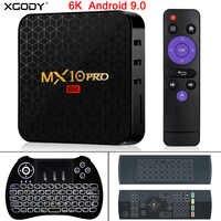 XGODY Newest 6K Android 9.0 TV BOX MX10 Pro Allwinner H6 Quad Core 4GB 32GB 64GB HD Media Player 2.4G WIFI Smart Set Top BOX