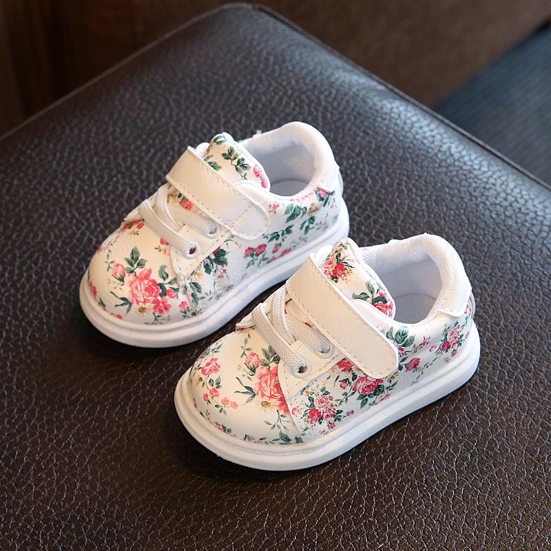 New Fashion Leather Children Shoes Girls Casual Shoes Irregular Floral Print Cute Kids Sneakers Breathable Baby Girls size 21-25New Fashion Leather Children Shoes Girls Casual Shoes Irregular Floral Print Cute Kids Sneakers Breathable Baby Girls size 21-25