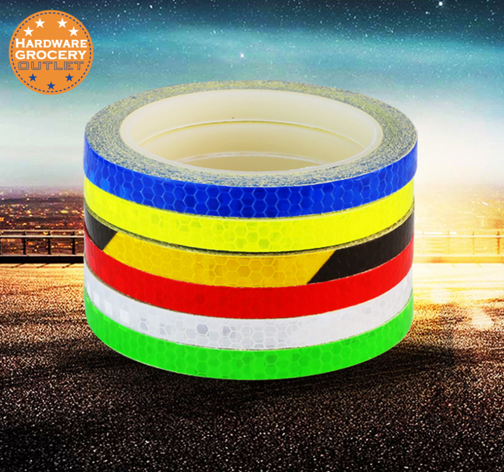 1 Roll Luminous Sticker 10mmx8m Removable Waterproof Photoluminescent Glow in Dark Safety Reflective Tape Fluorescent Vinyl цена