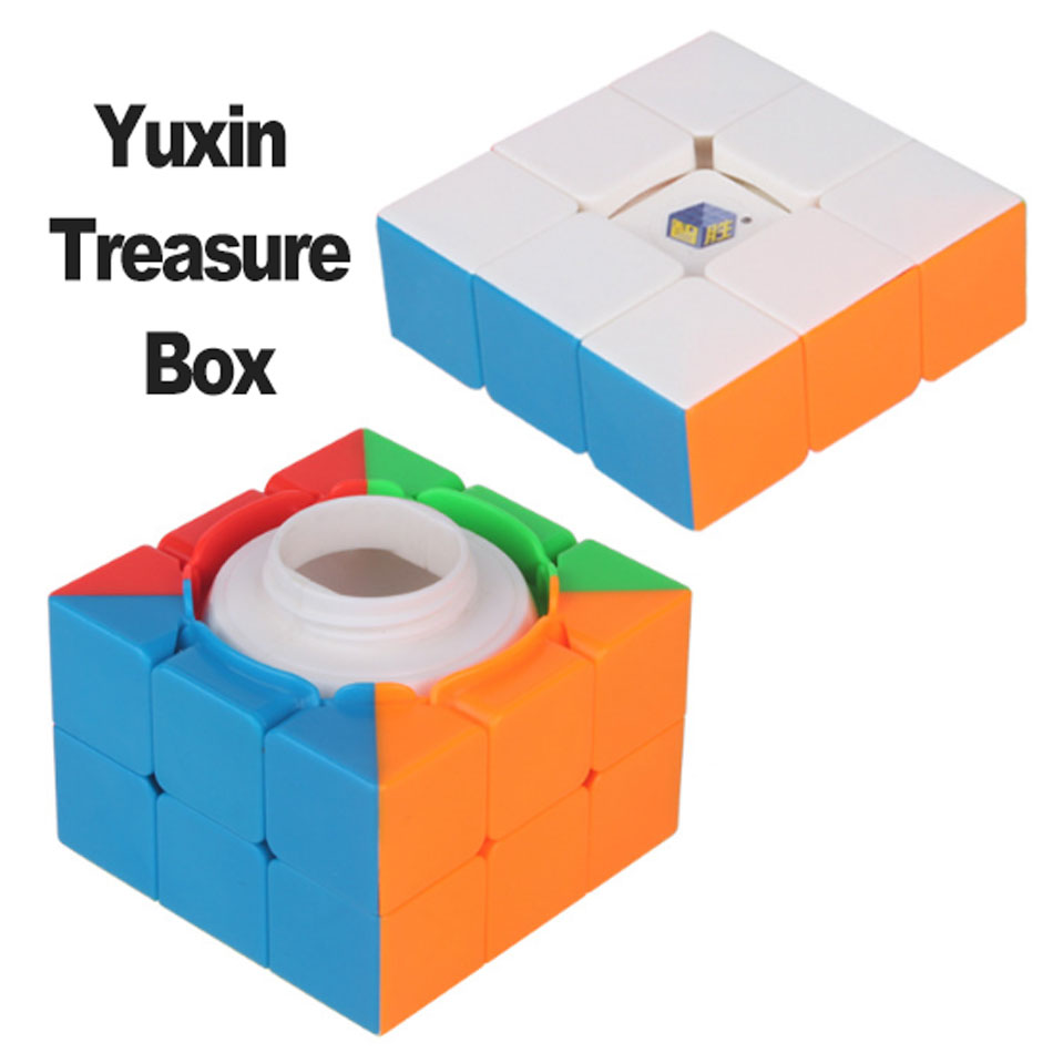 Yuxin Zhisheng Treasure Box Magic Speed Cube Black/stickerless Puzzle Storage Cubes Surprise Cube Educational Toys For Children