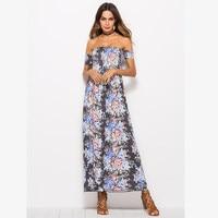 strapless off shoulder summer dress 2019 women long maxi boho beach dress plus size clothing casual vintage floral dress 08536