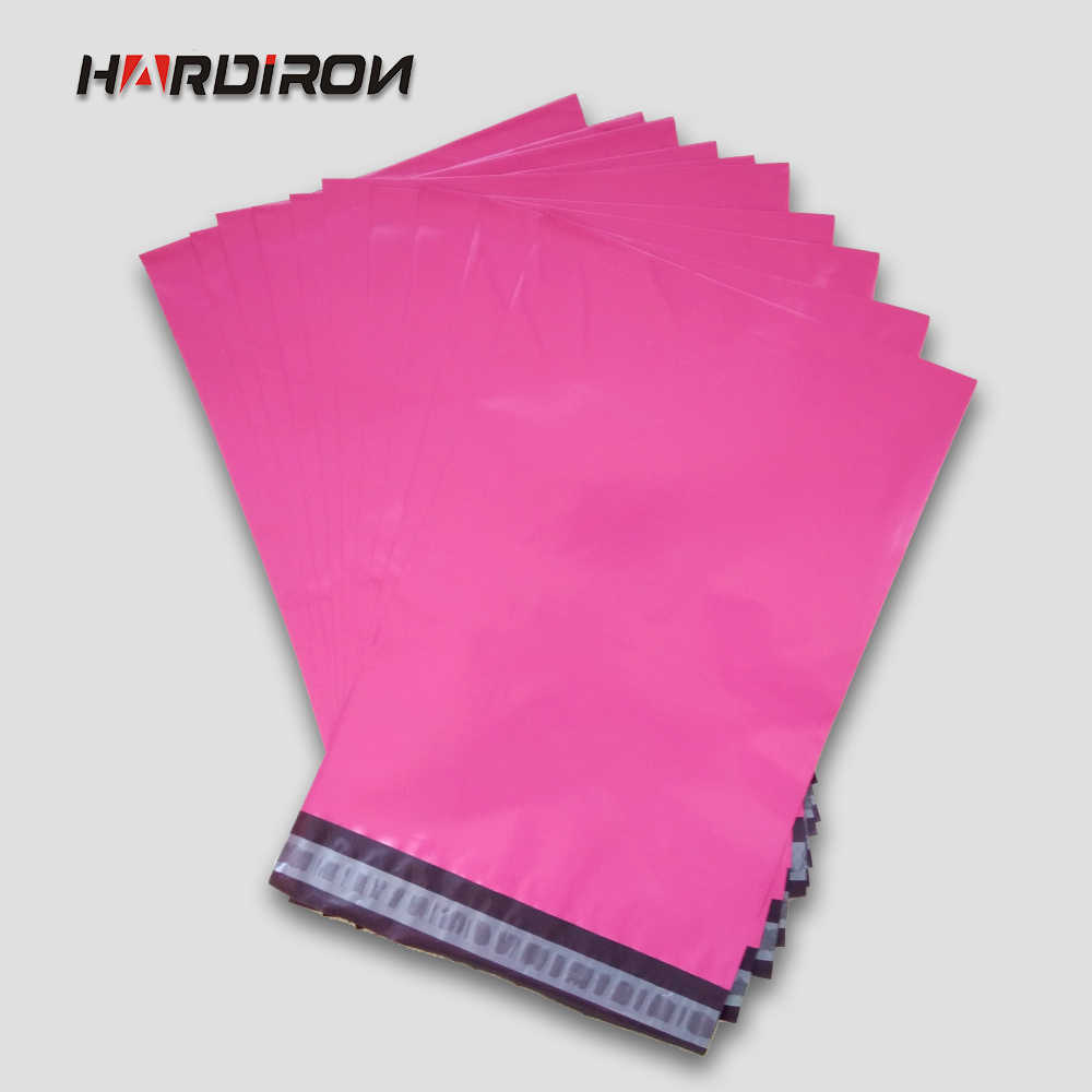HARDIRON Factory Supply  Poly Mailer Pink Color Poly Mailing Envelope Pouches Poly Post Bags Pink Color Mailing Bags