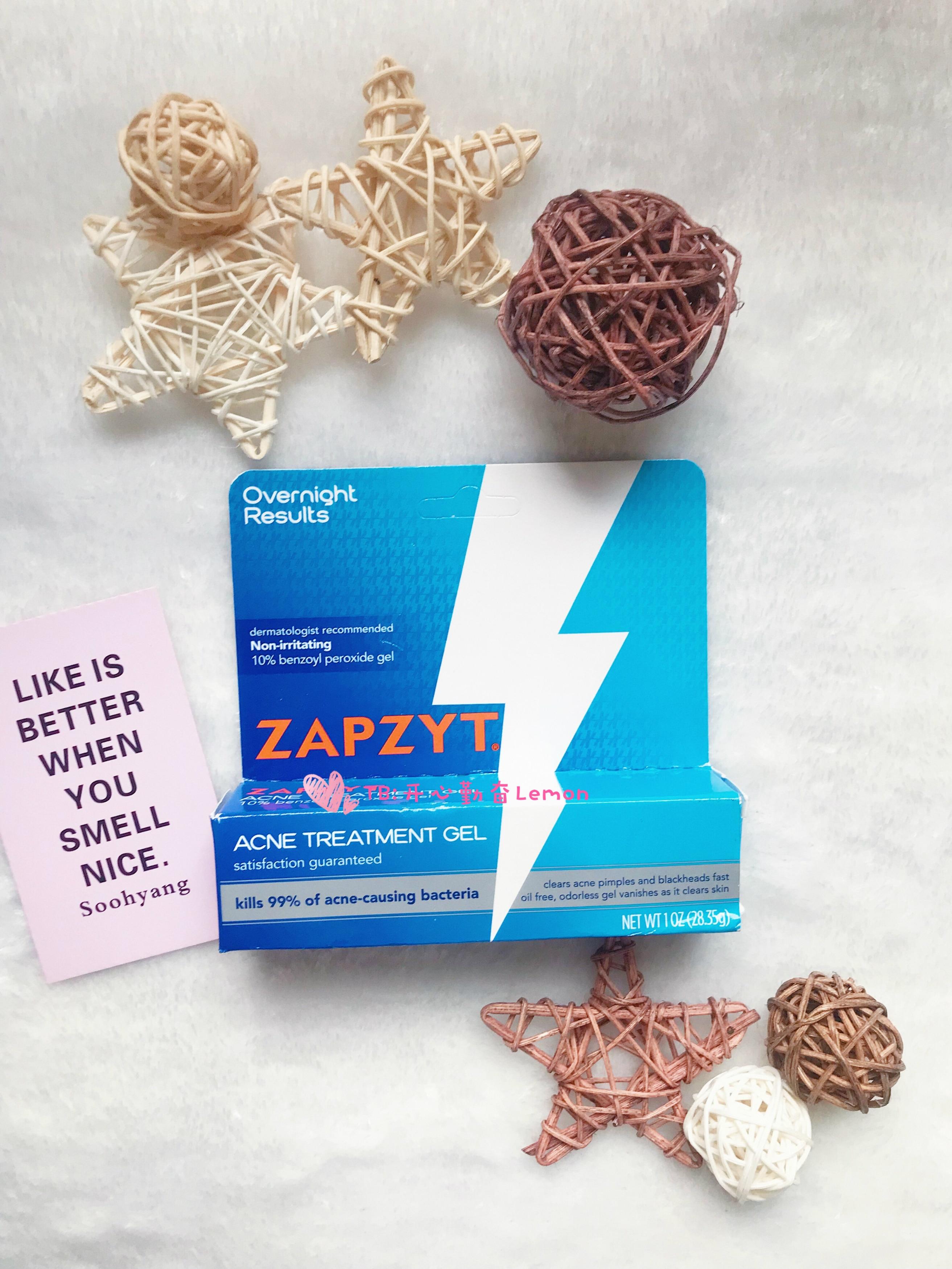Zapzyt Acne Treatment Gel Benzoyl Peroxide Gel 10% 28.35g