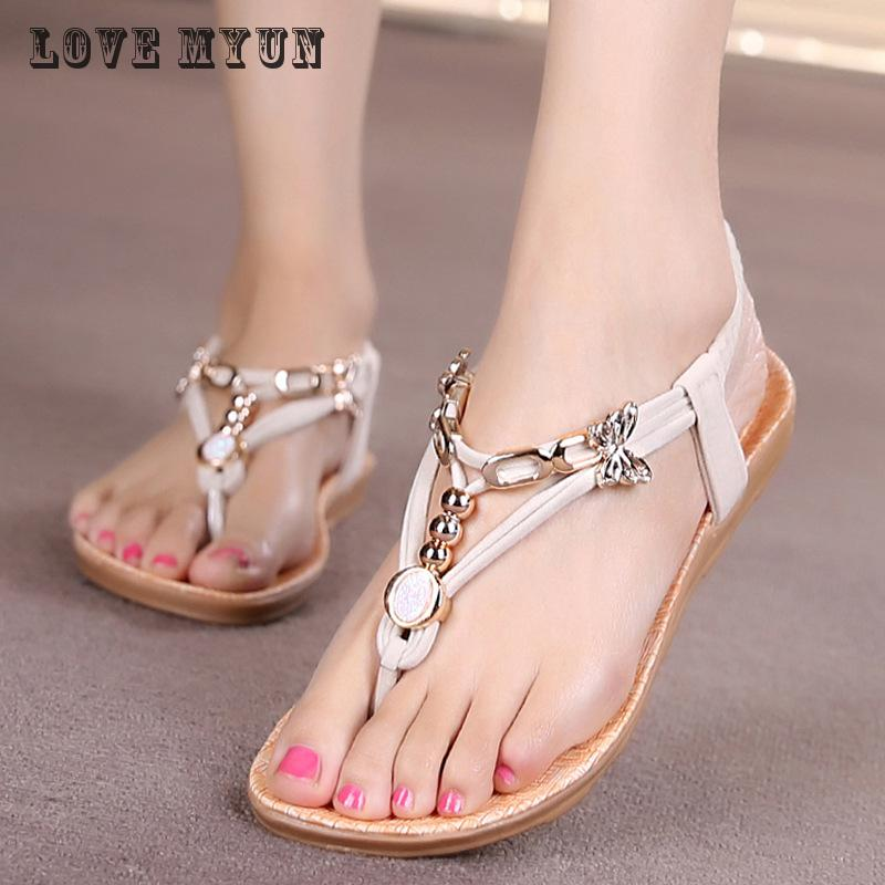 2017 Summer FashionWomen Sandals Summer New Vintage Style Gladiator Platform Wedges Shoes Woman Beach Flip Flops Bohemia Sandal wedges gladiator sandals 2017 new summer platform slippers casual bling glitters shoes woman slip on creepers