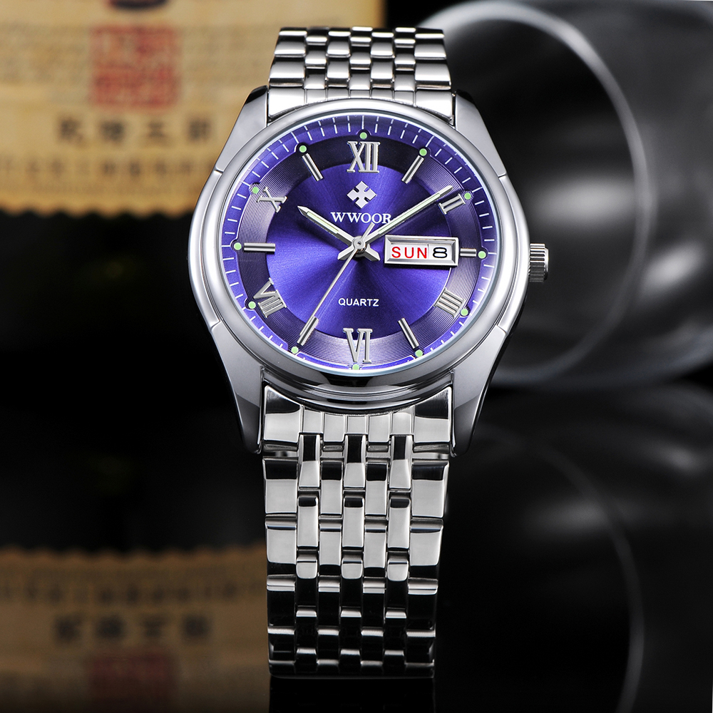 Luxury Brand Watch Auto Date Men Stainless Steel Sport Watches Luminous Hours Clock Casual Quartz Dress Watch Wristwatch Relojes skmei luxury brand stainless steel strap analog display date moon phase men s quartz watch casual watch waterproof men watches