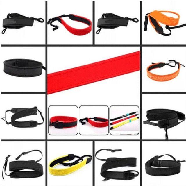 10 יח\חבילה SLR מצלמה צוואר כתף שחור חגורת גמיש רצועת מצלמה עבור Canon Nikon Sony Pentax לאולימפוס Panasonic DSLR