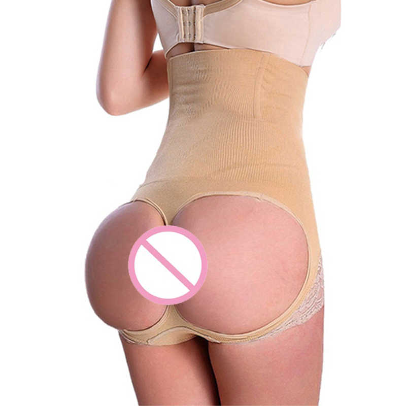 dcacaa65dc ... Women s Butt Lifter Stomach Shaper Seamless Tummy Control Hi-waist Thigh  Slimmer Girdles Body Shaper ...
