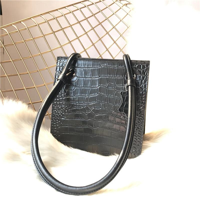 Femmes En Black Alligator Designer Bandoulière 2018 À Main De Simple Sacs Luxe Vache Rétro khaki Rayé Peau Cuir aHxOIwWq