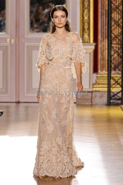 High Quality Lace Zuhair Murad Evening Dresses 2015 Winter Formal