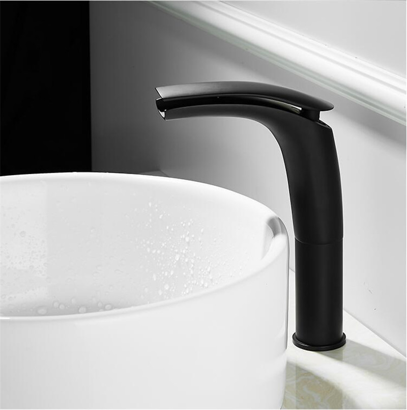 HTB1PldGKwHqK1RjSZFgq6y7JXXa1 Bathroom Basin Faucet White and Black Baking Solid Brass Specail Sink Mixer Tap Hot & Cold Waterfall Basin Faucet Free Shipping