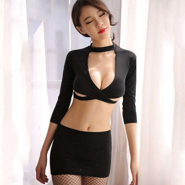2018 New Arrival Sexy Woman Erotic Lingerie Sexy Secretary Uniform Temptation Cosplay Sets Cute Lingerie Sexy Erotic Women