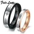 Christmas Lover's gift stainless steel couple finger rings Wedding Bands retro style  283