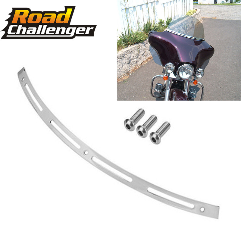 Chrome Slotted Batwing Windshield Trim For Harley 1996-2013 Electra Street Glide FLHX FLHTC FLH/TChrome Slotted Batwing Windshield Trim For Harley 1996-2013 Electra Street Glide FLHX FLHTC FLH/T