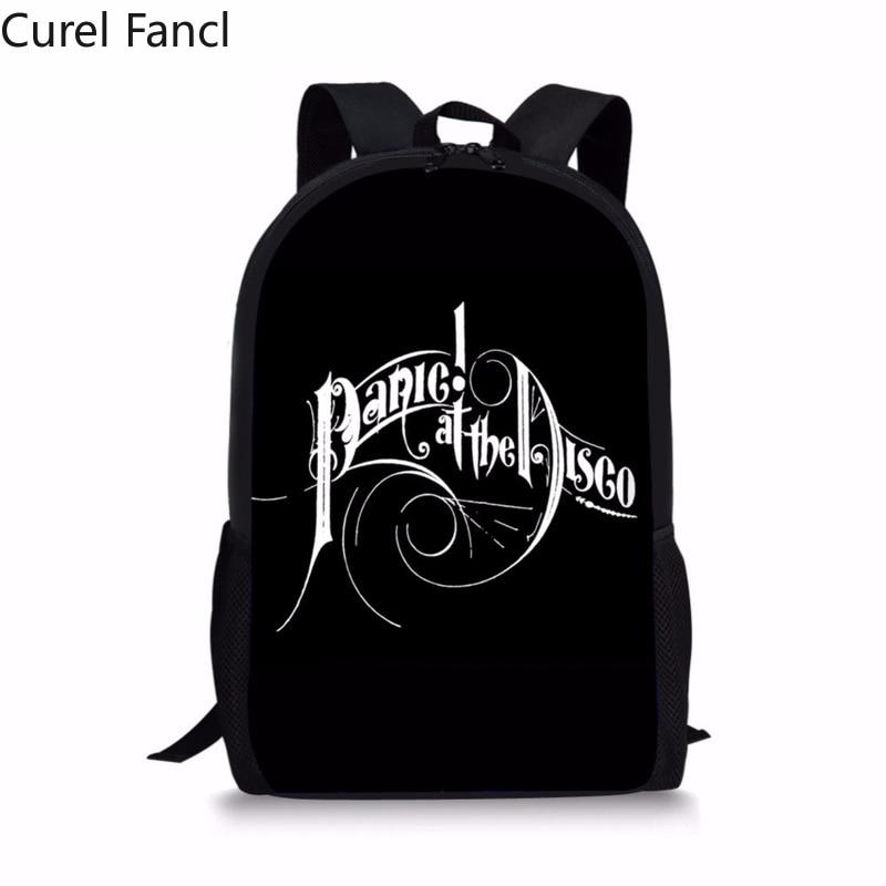 Curel Fancl мужской большой рюкзак 3D Panic At The Disco Print мужской рюкзак для ноутбука для путешествий с мягкой спинкой школьный рюкзак для мальчиков Человек назад в школу