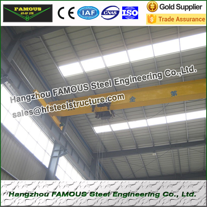 Electric China Overhead Bridge Crane Monorail For Workshop Steel Bulding Kits Lifting
