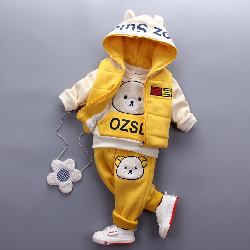 все цены на Baby Boys Clothes Set Boys Hoodie Jacket T shirt Pants 3PCS Autumn Newborn Clothing Comfortable Set Toddler Kids Infant Sets