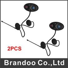 2 pcs Motocicleta Interfone Interfone com Sistema de Fones de ouvido do Capacete para Capacete Comunicador