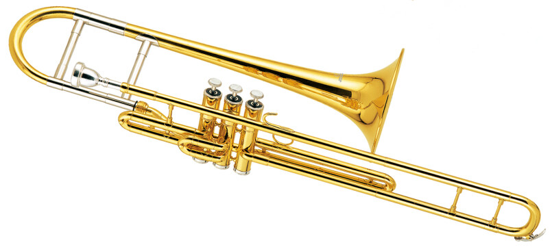 eb piston trombone brass body with wood case and. Black Bedroom Furniture Sets. Home Design Ideas