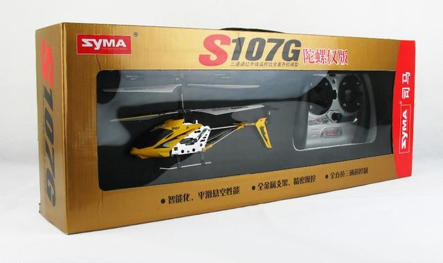 Sima 3ch dubbele bladen USB opladen rc mini helicopter s107 s107g met gyro gemakkelijk fly