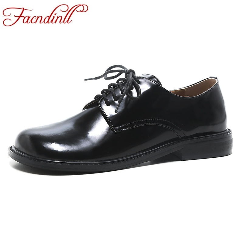FACNDINLL New handmade shoe 2018 spring loafers women shoes black casual work driving shoes women flats genuine leather flat facndinll genuine leather sandals for