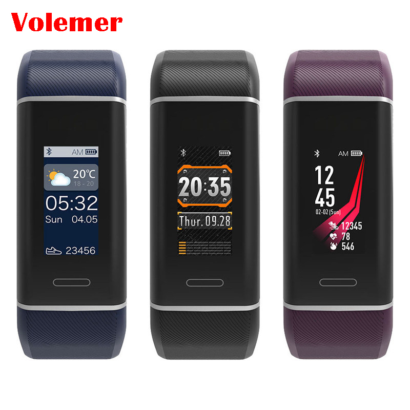 W7 GPS Smart Band Sports watch Color Smart Bracelet Fitness Tracker Heart Rate Smart wristband Pk xiaomi mi band 3 Pk mi band 3