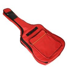 цены на 41 inch Classic Guitar Carry Bag  Oxford Padded Electric Bass Guitar Gig Bag Case Double Straps Backpack  в интернет-магазинах
