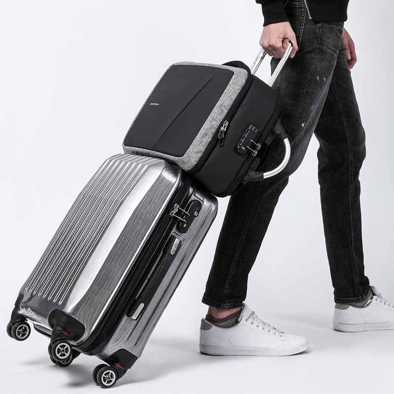 KAKA TSA Противоугонный мужской рюкзак без ключа USB 15,6 сумка для ноутбука рюкзак школьный мужской водонепроницаемый рюкзак для путешествий Mochila backbag