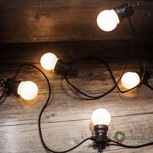 Image 3 - 23 متر 25LED مصباح كروي سلسلة أضواء IP65 مقاوم للماء للاتصال في الهواء الطلق عيد الحب عيد الميلاد عطلة جارلاند مقهى الديكور