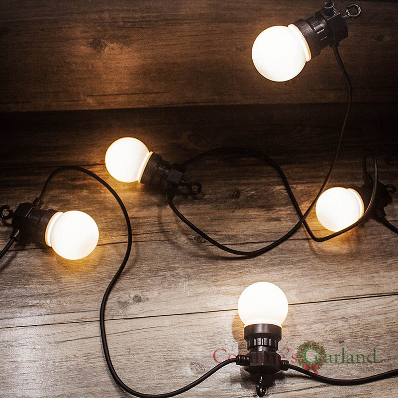 23M 25LED Globe Bulb String Lights IP65 Waterproof Connectable for Outdoor Valentine Christmas Holiday Garland Cafe