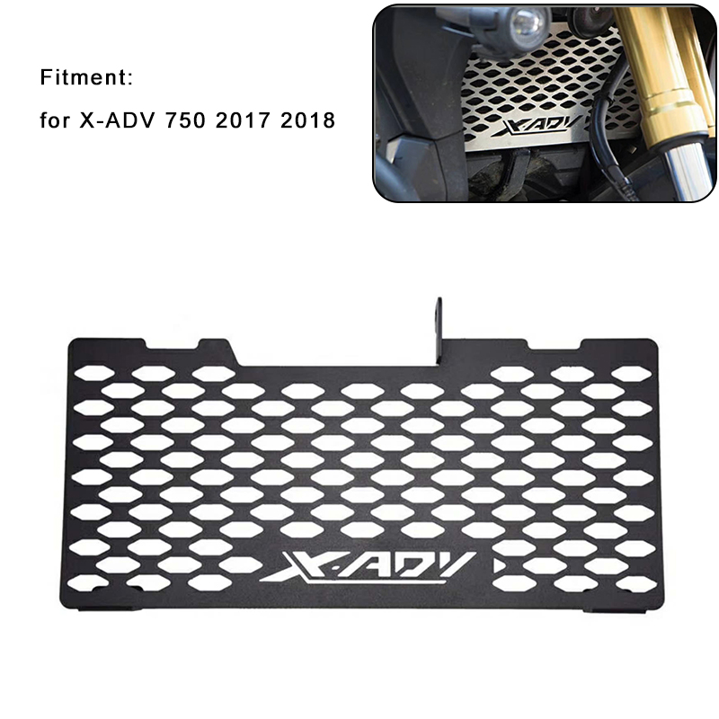 Free Shipping For Honda X-ADV 750 2017 2018 Motorcycle Radiator Protective Grill Grille Cover Guard Matte Black and Silver New motorcycle radiator grill grille guard screen cover protector tank water black for bmw f800r 2009 2010 2011 2012 2013 2014
