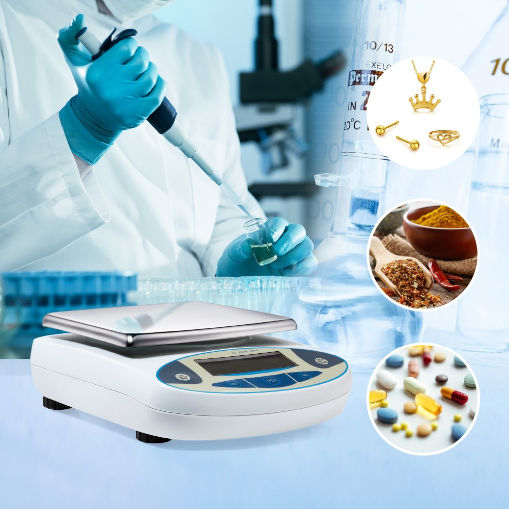 5000g 0 01g Electronic Balance Analytical Digital Scales Precision Weight Scale Balance Scientific Lab Accuracy Jewelry
