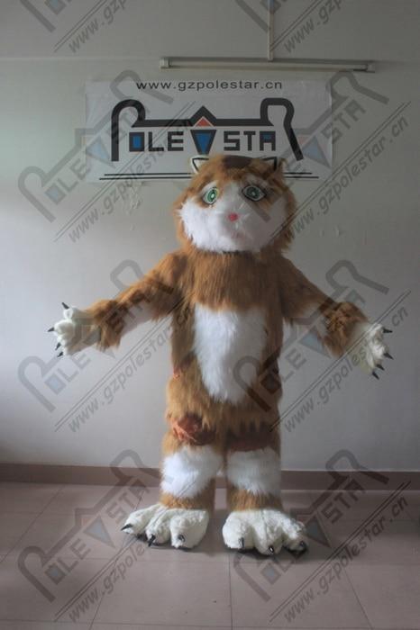 plush fur cat mascot costumes hot sale cat series costumes