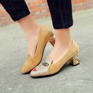 Image 3 - New fashion Big size 33 48 high spike heel pumps with buckle made of high quality pu women pointed toe  shoes 602