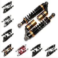 Universal 320mm 12.5 Motorcycle Air Shock Absorber Rear Suspension Spring Damper Replacement For Yamaha Gold&Black