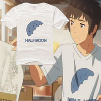 Japanese Anime Your Name Kimi No Na Wa Taki Miyamizu Mitsuha School Cotton T Shirt T