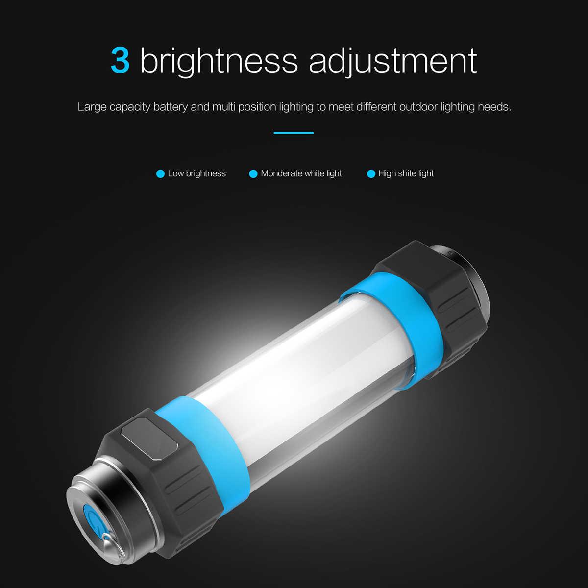 Pocketman IP68 Водонепроницаемый Кемпинг лампы USB Перезаряжаемый рабочий свет Магнитный аварийного Фонари ремонт фонарика 6 режимов факел