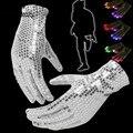 7 Modo Light Up Finger Iluminación Guantes LED Rave Flashing Lentejuelas Brillan