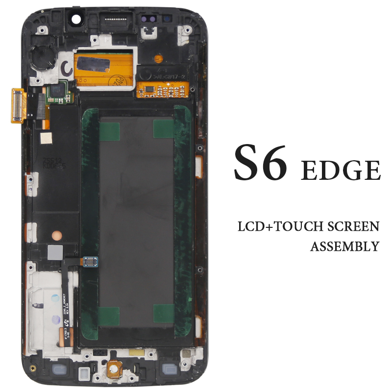 Phone Replacement Part Screen For Samsung Galaxy S6 Edge LCD Display With Frame AMOLED G925 G925A G925F G925I Pantalla Assembly in Mobile Phone LCD Screens from Cellphones Telecommunications
