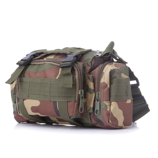 Outdoor 3p Magic Tactical Waist Pack Molle Shoulder Bag Camo Camera Pouch Camping Hiking Hunting Field