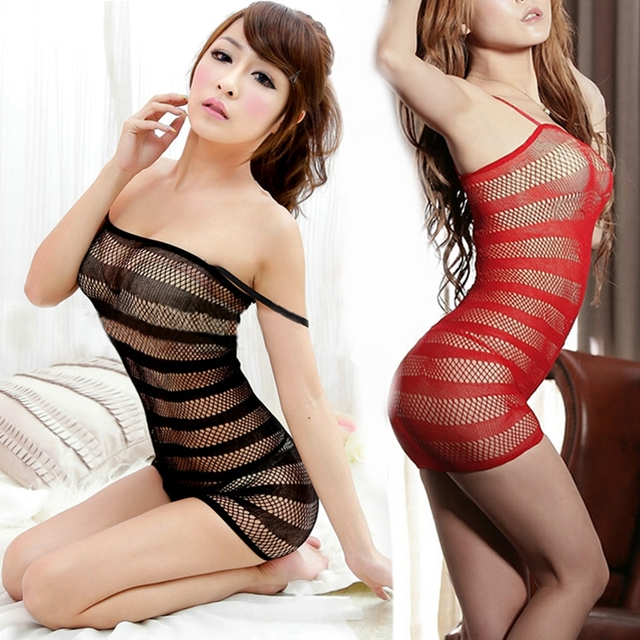 786e9843139 1Pc New Sexy Lingerie Swimsuit Fishnet Bodysuit Body Stocking Dress  Nightwear Underwear Sandy Beach