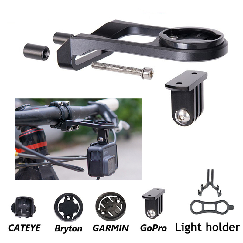 Bicycle Computer Stem Extension Mount Holder With Gopro Camera Bracket Adapter For GARMIN Edge GPS Bike Mount Bryton CATEYE fouriers ha s014 bike bicycle computer mount handlebar stem holder for garmin gps edge mio gopro
