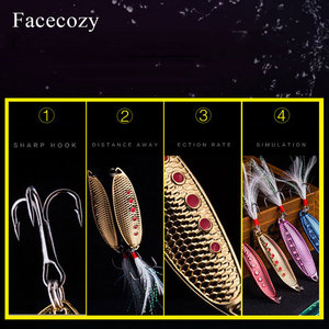 Image 5 - Facecozy Metal Bionic Leeches High Reflectivity Swimbait Dots Fish Scales Design 1Pc Tassel Tail Fishing Lures Artificial Bait