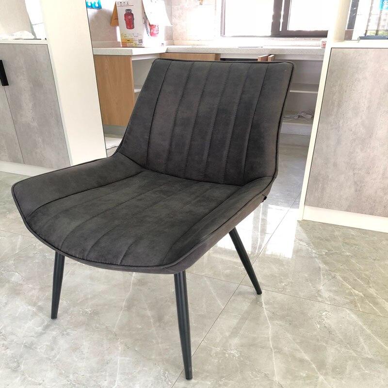 Nordique INS minimaliste Restaurant chaise salle à manger moderne Pu chine fer chaise bois cuisine à manger chaises pour salles à manger