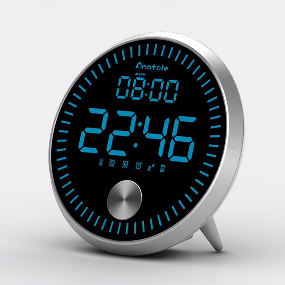 mini electronic led snooze alarm clock table calendar. Black Bedroom Furniture Sets. Home Design Ideas